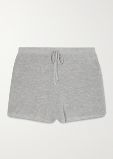 skin Net Sustain Weslin Ribbed Organic Cotton-blend Shorts