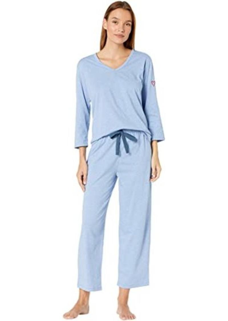 "skin Organic Cotton Blend ""Heart on Your Sleeve"" Pajama Set"
