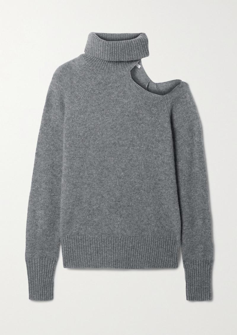 skin Phoebe Cutout Cashmere Turtleneck Sweater