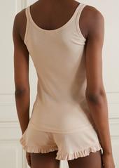 skin Net Sustain Raise And Raffaela Ribbed Organic Pima Cotton Pajama Set