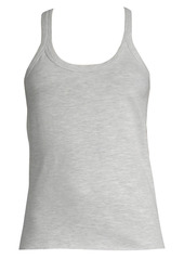 skin Rib-Trimmed Cotton Tank Top