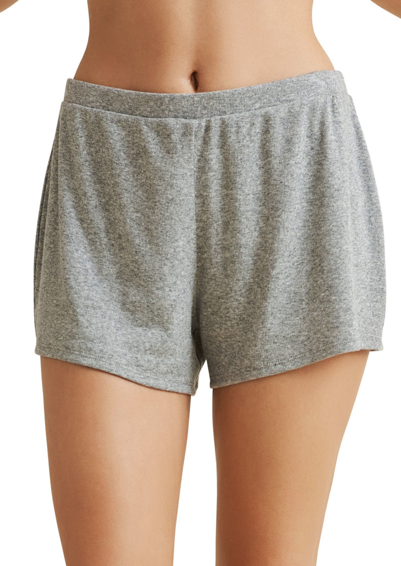 skin Rosalind Pima Cotton Ribbed Shorts