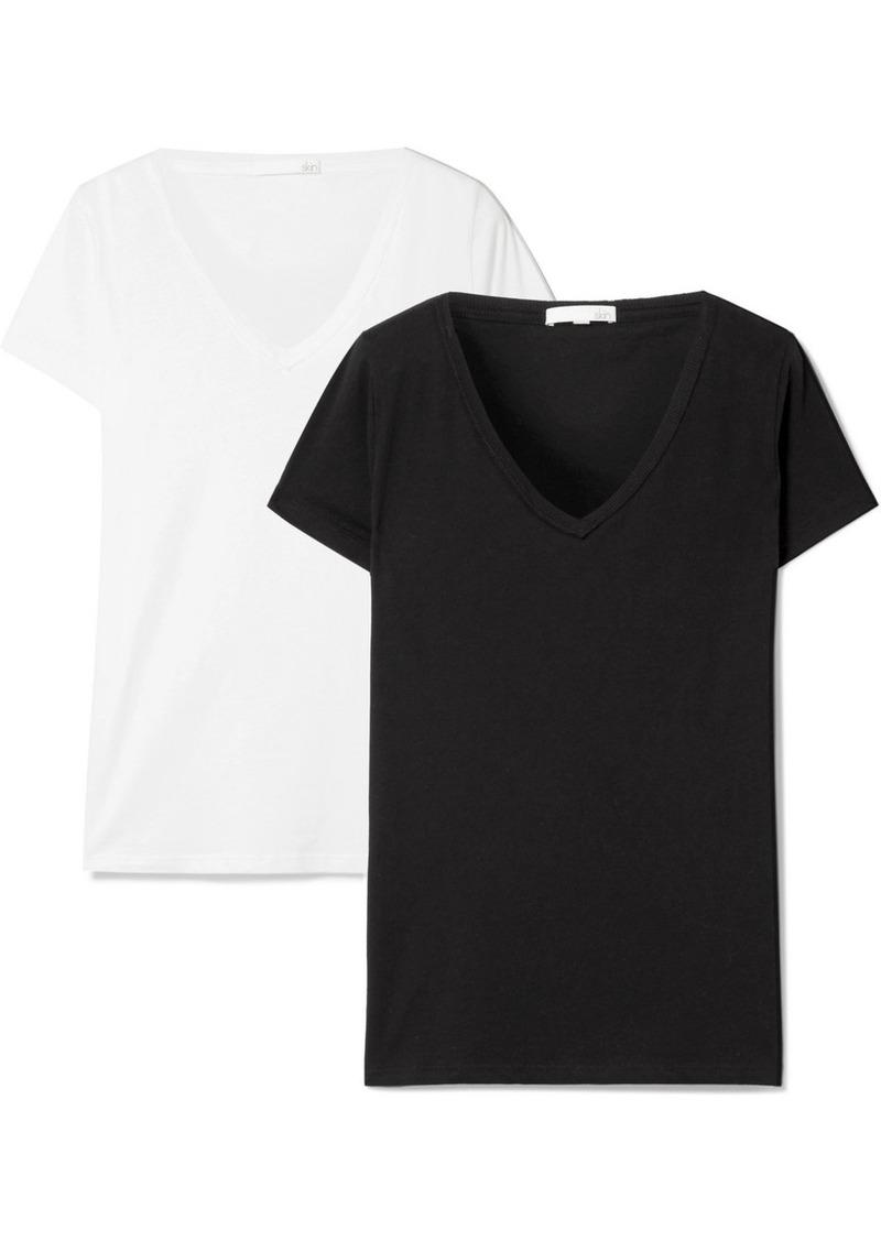 skin Set Of Two Pima Cotton-jersey T-shirts