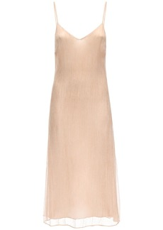 skin Shan Crinkled Silk Chiffon Dress