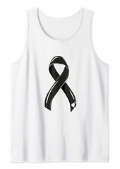 Skin Cancer Ribbon Black Survivor Fighter Chemo Melanom Tank Top