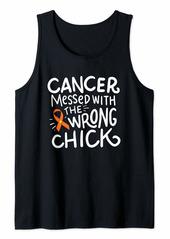 Skin Cancer Survivor Fighter Chemo Melanoma Orange Ribbon Tank Top
