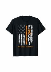 Skin Cancer Warrior US Flag T-Shirt
