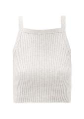 Skin Mariya ribbed cotton-blend cropped top