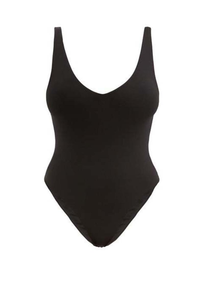 Skin Selene scoop-neck cotton-blend bodysuit