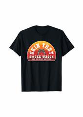Skin That Smoke Wagon Retro Desert Sunset Western Gun Shirt