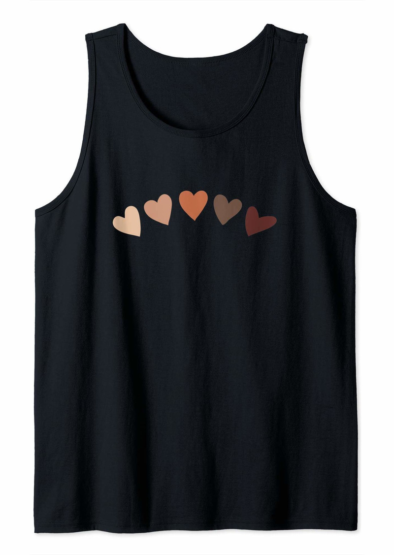 Skin Tone Hearts Be Kind Melanin Tank Top