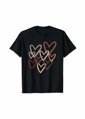 Skin Tones Love You Equality Skin Tone Hearts Melanin T-Shirt