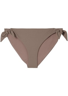 Skin Woman The Rosie Knotted Low-rise Bikini Briefs Taupe