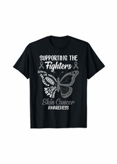 Supporting The Fighters Skin Cancer Awareness Gifts Tees T-Shirt