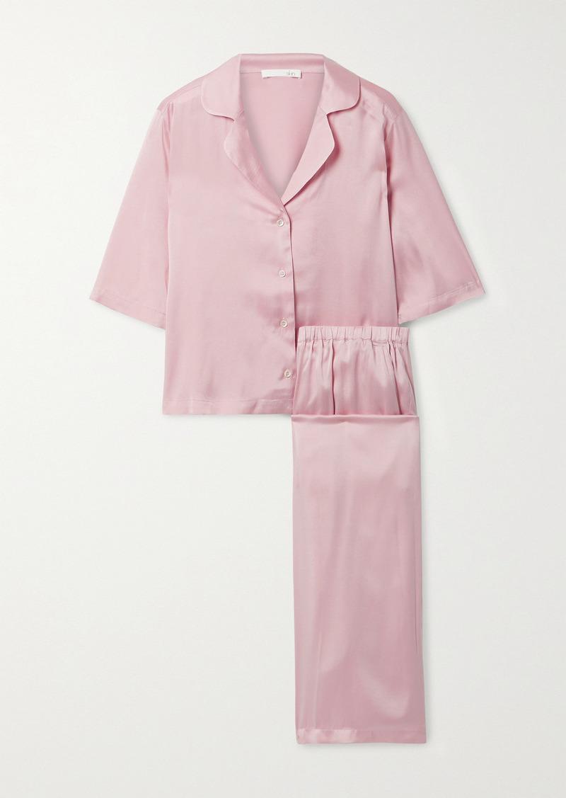 skin Tay Stretch-silk Satin Pajama Set