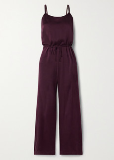 skin Tiffany Washed Silk-blend Charmeuse Jumpsuit