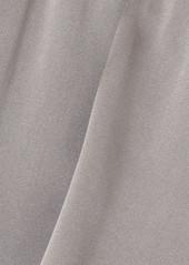 skin Net Sustain Trista Stretch-organic Silk Satin Shorts