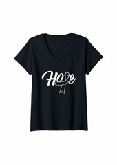 skin Womens Melanoma Awareness Hope Ribbon Shirt Gift V-Neck T-Shirt