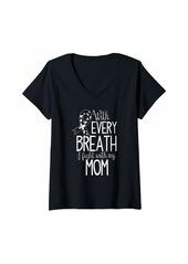 skin Womens Melanoma Awareness Shirt Mother Mom Kids Gift V-Neck T-Shirt