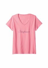 Womens skinfluencer skin care beauty blogger makeup V-Neck T-Shirt