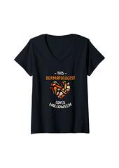 skin Womens This Dermatologist Loves Halloween Dermatology Scary V-Neck T-Shirt