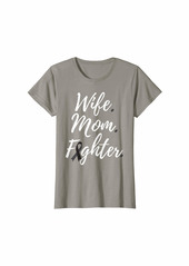 Womens Wife Mom Fighter Skin Cancer Awareness T-Shirt