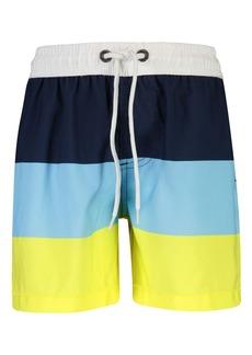 Snapper Rock Block Stripe Swim Trunks (Big Boy)