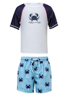 Snapper Rock Crab Two-Piece Rashguard Swimsuit (Baby)