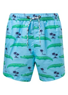 Snapper Rock Croc Island Swim Trunks (Toddler, Little Boy & Big Boy)