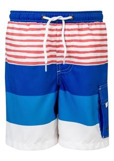 Snapper Rock Sail Stripe Swim Trunks (Big Boy)
