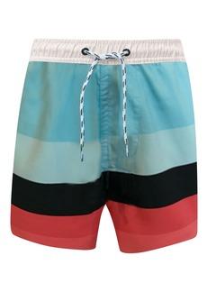 Snapper Rock Surf Stripe Swim Trunks (Toddler, Little Boy & Big Boy)