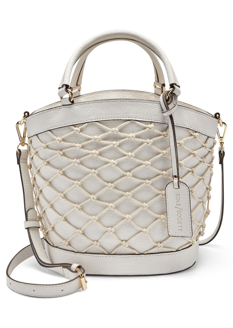 Sole Society Jubah Net Wrapped Faux Leather Satchel