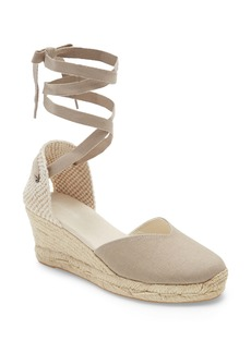 Soludos Lyon Ankle Wrap Wedge Espadrille (Women)