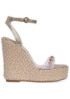 Sophia Webster 140mm Dina Plexi & Leather Wedges