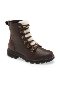 SOREL Lennox Lace-Up Boot with Genuine Shearling Trim (Women)
