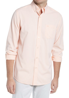 Southern Tide Gingham Check Button-Down Performance Shirt