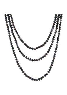 Splendid Endless Black 8-9mm Freshwater Pearl Necklace