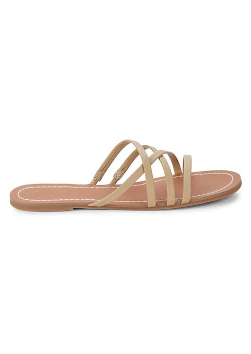 Splendid Mia Leather Flat Sandals