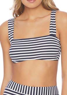Splendid Never Enough Stripe Bandeau Bikini Top