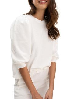 Splendid Mariposa Puff Sleeve Sweatshirt