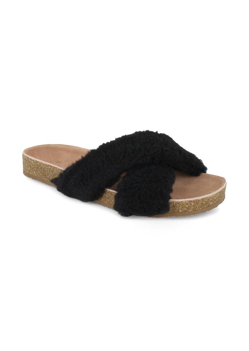 Splendid Rozi Genuine Shearling Blend Slide Sandal (Women)