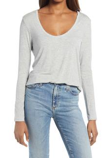 Splendid V-Neck Long Sleeve T-Shirt