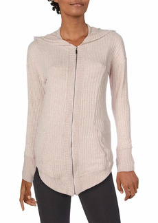 Splendid Women's Studio Activewear Workout Athletic Zip Jacket with Hood  M