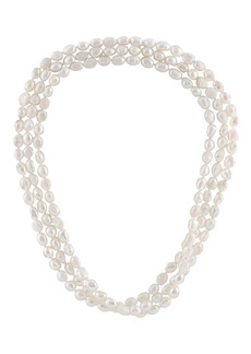 """Splendid White 8-9mm Cultured Freshwater Pearl Endless 64"""" Strand Necklace"""