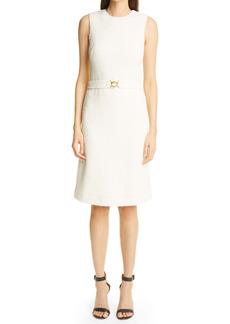 St. John Collection Belted Modern Slub Knit Dress