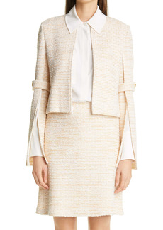 St. John Collection Bouclé Tweed Knit Jacket