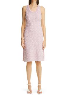 St. John Collection Fringe Tweed Sheath Dress
