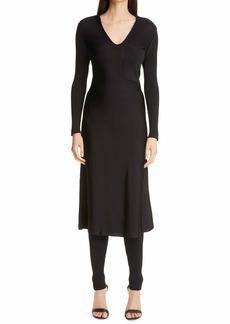 St. John Collection Long Sleeve Knit Shirtdress