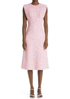 St. John Collection Sleeveless Bouclé Tweed Dress