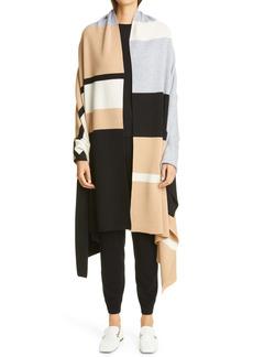 St. John Collection Stripe Cashmere Sweater Wrap